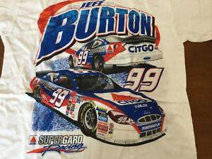 Vintage NASCAR Jeff Burton Citgo Racing Jumbo Print Shirt  NOS Med NIP Dead Stoc