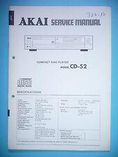 Service Manual-instrucciones para Akai cd-52, original