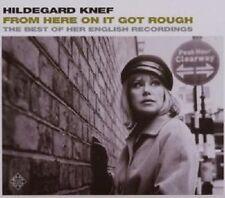 "HILDEGARD KNEF ""FROM HERE ON IT GOT ROUGH..."" CD NEU"