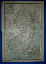 Vintage 1883 Atlas Map ~ New Jersey ~ Old & Authentic ~ Free S&H