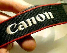 Canon EOS Black Red Camera Neck Strap Genuine T6 T5 Digital Rebel embroidered