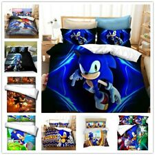 Sonic the Hedgehog Bedclothes 3D Bedding Set Duvet Covers Pillowcases D