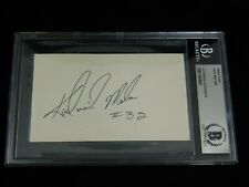 Karl Malone Signed 3x5 Index Card Beckett Encapsulated Jazz NBA HOF USA