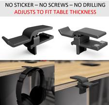 More details for headphone mount hanger adjustable stand holder hook under desk headset clamp