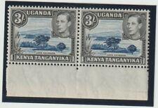 KUT 1938-54 SG147ac 3/- Marginal Pair MNH