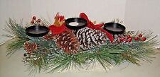 25 In 3 Candle Holder Home Decor Table Accent Holiday Christmas Pine Cone Berry