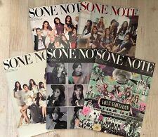 SNSD Girls' Generation Fanclub magazine SONE NOTE JAPAN vol.1 2 3 4 5 Set