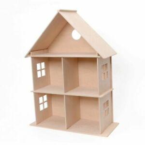 Großes Puppenhaus aus Holz – Kreativ-Set