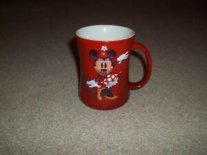 "VTG Rare 1990's Walt Disney World Minnie Mouse 3D Embossed Shadow Red 4.5"" Mug"