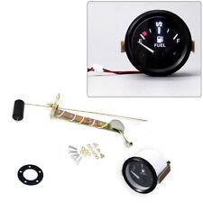 """Car 2"""" 52mm Fuel Level Gauge Meter With Fuel Sensor E-1/2-F Pointer Trim Kit"""