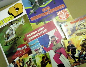 Original Vintage Action Man catalogue/book Job LOT: Parachutist/Big12/Cherliea