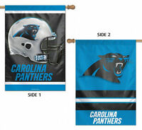"""Carolina Panthers 2 Sided NFL Vertical House Flag Licensed Football 28"""" x 40"""""""