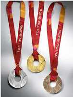 2006 Torino/Turin  Olympic Medals & Ribbons Set - Gold/Silver/Bronze  !!!