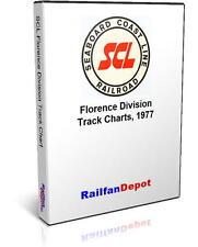 Seaboard Coast Line Florence Division Track Chart - PDF on CD - RailfanDepot