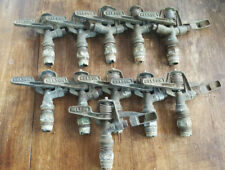 11 Vintage Nelson #F33A 15 Brass Impact Sprinklers