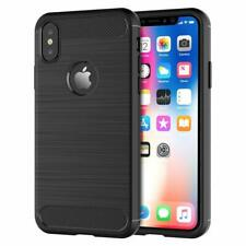For iPhone XS Max Carbon Fibre Gel Case Cover Shockproof & Stylus Pen