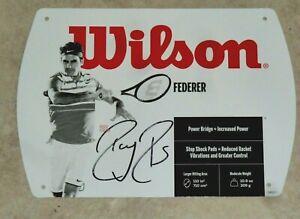 ROGER FEDERER  SIGNED WILSON TENNIS RACQUET COVER PHOTO