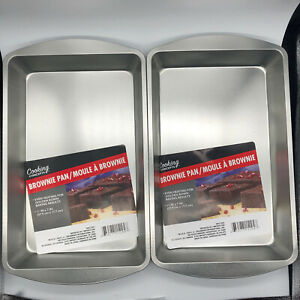 Premium Non-Stick Bakeware Square Brownie Pan by Cooking Concepts (2 PACK)