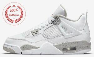 (GS) Jordan 4 Retro White Oreo DJ4699-100 cement taupe psg bred black cat grey