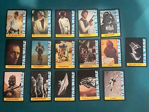 1977 Star Wars Wonder Bread Complete 16 Card Set Twentieth Century Fox Film Corp