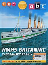 His Majesty's Hospital Ship Britannic Czech rare Paper Model 1 : 800