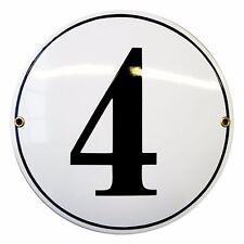 Numéro de rue rond Ø 20 cm plaque emaillée personnalisée 10 ans garantie