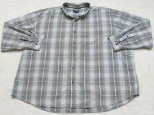 Basic Editions Long Sleeve Dress Shirt Men's XXL Tall 2XLT Striped Cotton Man's