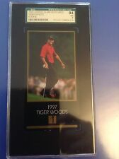 TIGER WOODS 1997-98 CHAMPIONS OF GOLF TIGER WOODS  ROOKIE SGC 84 Or 7 FUTURE HOF