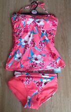 TU Floral Print Tankini Bikini 12t Top & 14 Tie Side Bottoms