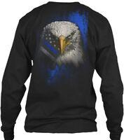 Thin Blue Line Bald Eagle Gildan Long Sleeve Tee T-Shirt