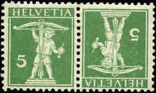 Switzerland Scott #148a Tete Beche Pair Mint