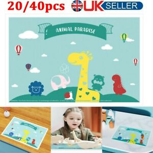 20/40pcs Baby Disposable Stick-on Placemats Home Dinning Table Mat for Kids New