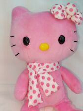 Small Fry's, Hello Kitty Build a bear Small Frys Plush Hot Pink with scarf & bow