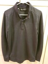 Men's Under Armour Cold Gear Storm Snap Mock Golf Pullover Loose Fit Gray Small