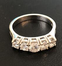 Toller Diamantring 1 Karat. Weiße Diamanten. 585er Weißgold Brilliantring.