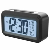 1X([Upgrade Version] Battery Operated Alarm Clock,Electronic Large Lcd Dis P4W9