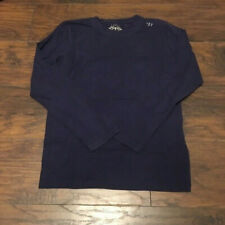 Warrior Sports Navy Blue Workout Long Sleeve Tee Shirt Size Small