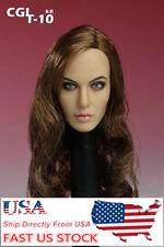 USA Ship 1:6 Scale CGL T-10 Angelina Jolie 2.0 CG CY Girl Female Head Sculpt