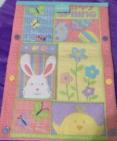 SPRING BLOSSOMS&BLOOMS TABLE RUNNER HAPPY SPRING 36 by 13