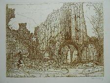 PAUL ELIASBERG Kloster OURSCAMP Noyon Chiry Zisterzienser 73 Griffelkunst
