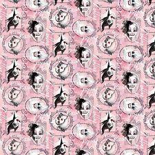 Disney Framed Villians Pink premium 100% cotton fabric by the yard
