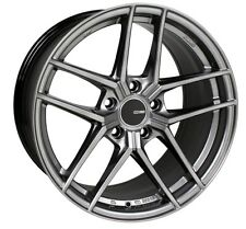 18x8 Enkei TY5 5x108 +40 Hyper Silver Rims Fits Ford Taurus Sho Mercury