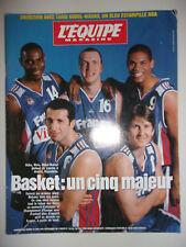 L'EQUIPE MAGAZINE 19 JUIN 1999 BASKET : UN CINQ MAJEUR // RIGAUDEAU BILBA ...