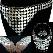 Danza vientre belly dance sklavenarmband monedas cinturón cadena aretes monedas de plata