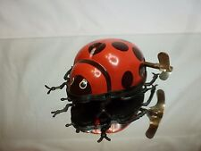 TIN TOY BLECH WINDUP CHINA - LADYBUG - RED + BLACK L7.5cm - GOOD CONDITION