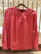 Boden Ladies Linen Cerise Pink Top, Size 14