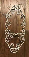 Single Plate Display Picture Holder Wall Hanger Scrolly Metal Shabby Chic