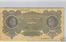 POLOGNE 10 000 MAREK 11.3.1922 N° D 3525477 PICK 32