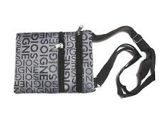 Gray Nylon Mini Purse Shoulder Bag Item 4459