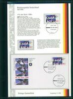 BRD ETSB 1998/4d ERSTTAGS-SAMMELBLATT SPORT OLYMPIA PARALYMPICS NAGANO JAPAN